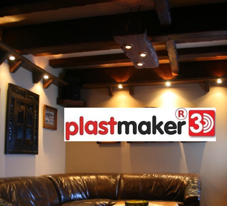 imitacja drewna ściana sufit elewacja plastmaker