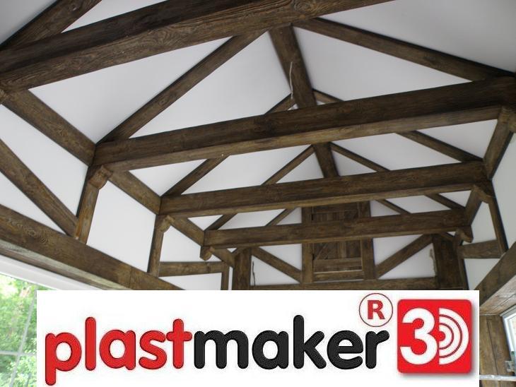 stropowe belki na suficie imitacja drewna